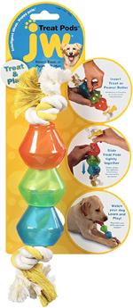 JW Pet Treat Pod Rope Dog Toy 1ea/Large