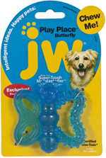 JW Pet PlayPlace Butterfly Teether Dog Toy 1ea/Medium
