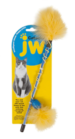 JW Pet Cataction Feather Wand Cat Toy 1ea