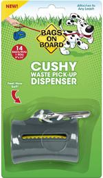 Bags on Board Cushy Waste Pick-up Bag Dispenser Grey 1ea/14 Bags, 9 In X 14 in