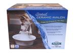 Drinkwell Ceramic Avalon Pet Fountain White 1ea
