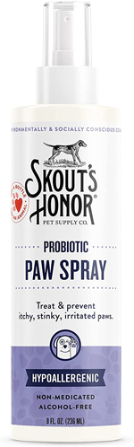 Skouts Honor Dog Cat Probiotic Paw Spray 8Oz