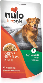 Nulo Chicken & Green Beans in Broth Dog Food Toppers 24ea/2.8 oz