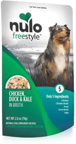 Nulo Chicken, Duck, & Kale in Broth Dog Food Toppers 24ea/2.8 oz