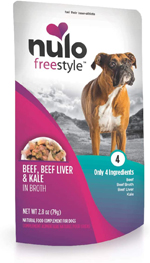 Nulo Beef, Liver & Kale in Broth Dog Food Toppers 24ea/2.8 oz