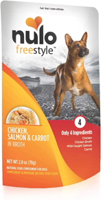 Nulo Chicken, Salmon, & Carrot in Broth Dog Food Toppers 24ea/2.8 oz