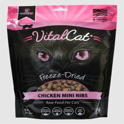 Vital Essentials Cat Freeze-Dried Mini Nibs Chicken 12Oz