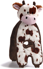 Charming Pet Products Cuddle Tug Cozy Cow Dog Toy 1ea