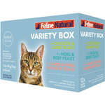 Feline Natural Cat Grain Free 3 Oz  Variety Pack Pouch 12 Pack